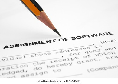 Assignment of software