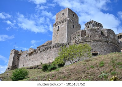 Assisi Fortress on the hill. Assisi. Italy.