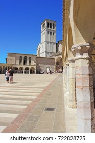 Assisi, Italy, August 14, 2017. The Basilica and the Sacred Convent of Saint Francis