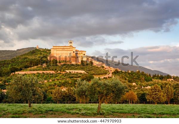 Assisi (Umbria)  at sunset