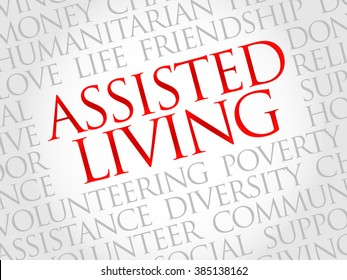 Assisted Living word cloud concept
