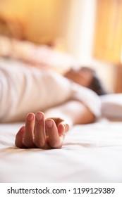 Assisted yoga session or shiatsu.
