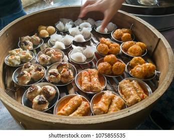 assort of dim dum yumcha hong kong style