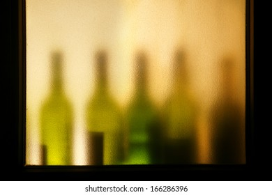 Assorted alcoholic beverages isolated