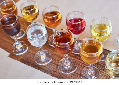 assorted alcoholic cordials