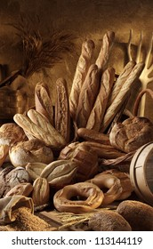 assorted artisan breads