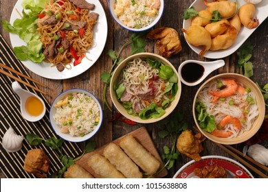 assorted asian cuisine