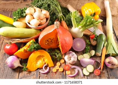 assorted autumn vegetable