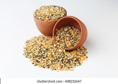 Assorted bean or dal, pea and grain, yellow chana dal ,Red lentils