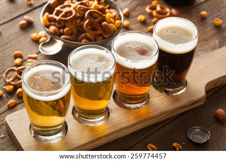 Assorted Beers in a