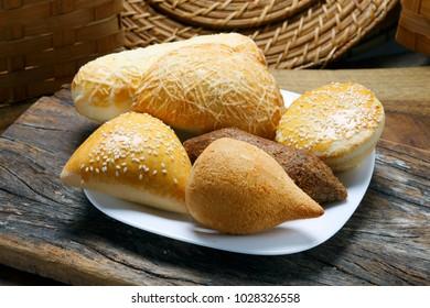 Assorted Brazilian snacks