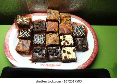 assorted brownies on a plate