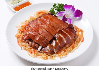 Assorted Chinese style BBQ on white plate