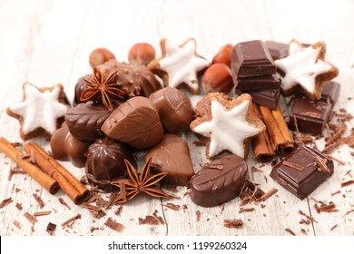 assorted chocolate and spices
