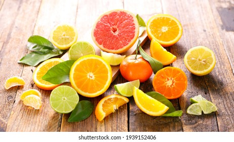 assorted of citrus fruit and leaf