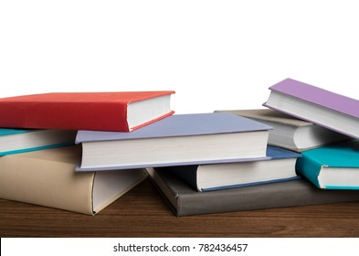 Assorted colorful hardcover books