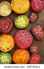 Assorted Colorful Juicy Ripe Heirloom Tomatoes