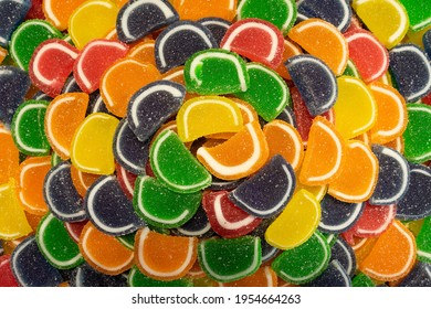 Assorted Colourful Jelly Candy Texture Background