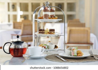 Assorted cookies and coffee, afternoon tea arrangement