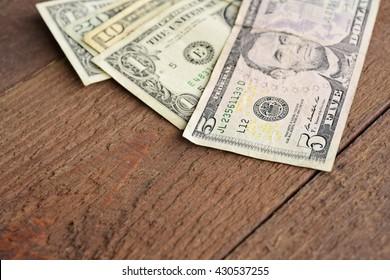 Assorted Dollar Bills