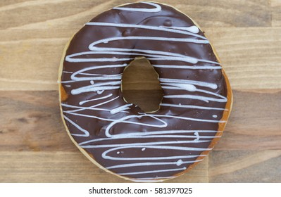 Assorted donut with chocolate frosted