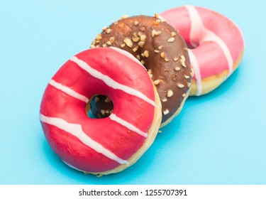 assorted donuts with chocolate
