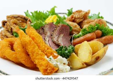 Assorted  fried food