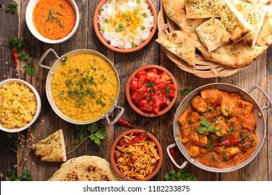 assorted india food cuisine