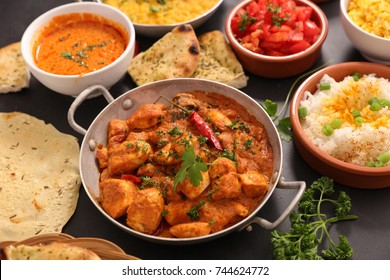 assorted indian curry dish