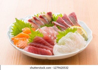 Assorted Japanese sashimi