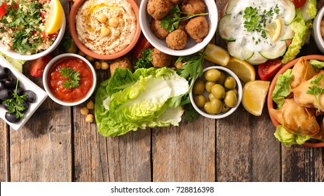 assorted lebanese food
