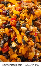 Assorted nuts and dried fruits in turkish market in Antalya, Turkey