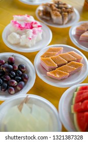 Assorted Nyonya sweet dessert or simply known as kueh or kuih served during wedding day.
