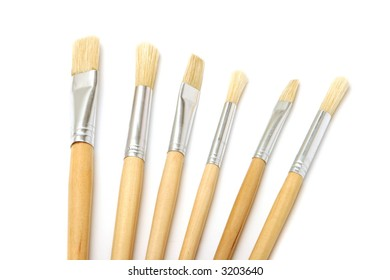 Assorted painter's brushes
