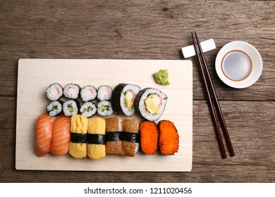 Assorted sushi meal