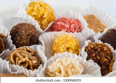 Assorted traditional sweets from Cartagena de Indias