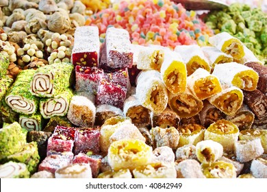 Assorted Turkish Delight bars(Sugar coated soft candy)