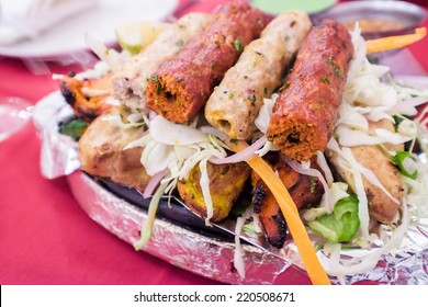 Assortiment de kebab (Sizzler), mixed kebab, Indian food