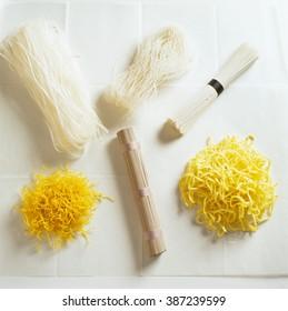 Assortment of Asian noodles