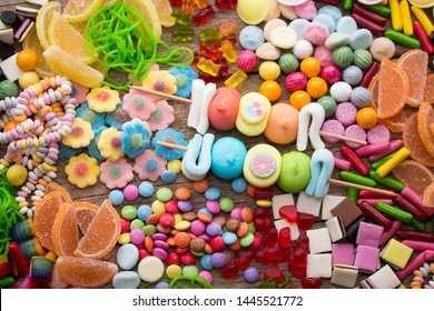 An assortment of colourful candy