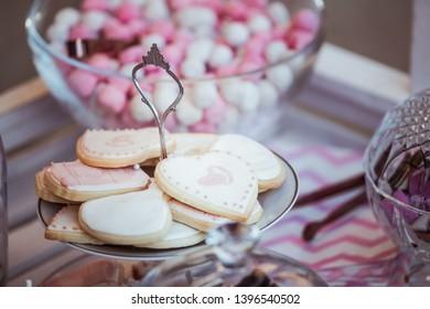 Assortment of cookies, dessert table