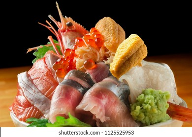 Assortment of delicious seafood