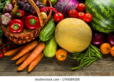 assortment of different bright vegetables, grown products agriculture