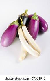 assortment of eggplants