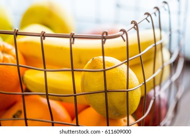 Assortment of Exotic Fruits in Basket
