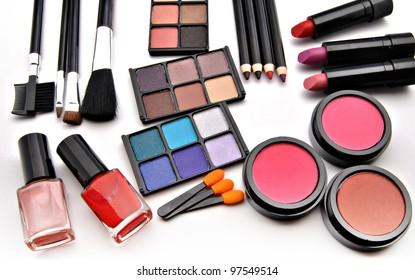 Assortment female makeup