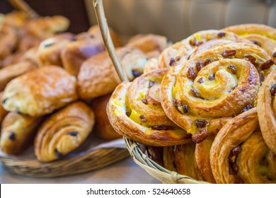 assortment of french pastries