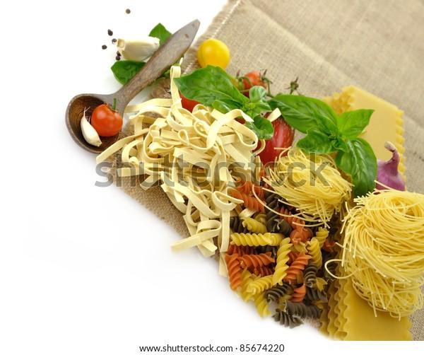 Assortment Of Italian Pasta , Close Up Shot