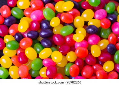 An assortment of jelly beans for background