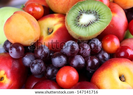 assortment juicy fruits background の写真素材 今すぐ編集